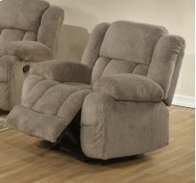 Light Brown Velvet Motion Chair