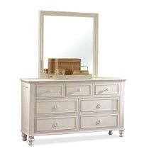 Placid Cove Seven Drawer Dresser Honeysuckle White finish