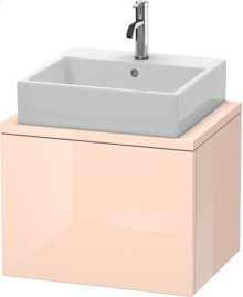 Delos Vanity Unit For Console Compact, Apricot Pearl High Gloss Lacquer