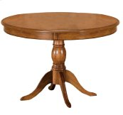 Bayberry Round Pedestal Dining Table - Ctn B - Pedestal and Legs Only - Oak