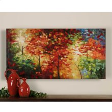 Bright Foliage Hand Painted Canvas