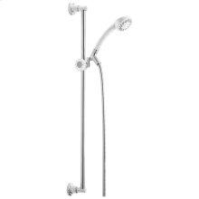White Fundamentals Single-Setting Slide Bar Hand Shower