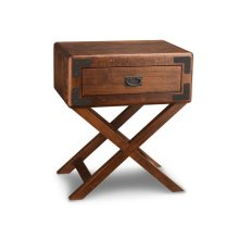 Saratoga 1 Drawer X Base Nightstand