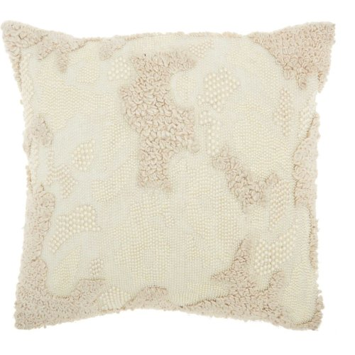 "Luminescence E1199 Ivory 18"" X 18"" Throw Pillows"