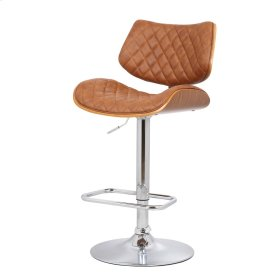 Finlay PU Gaslift Bar Stool, Antique Tinsel
