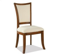 Windward Bay XX-Back Upholstered Side Chair Warm Rum finish Product Image