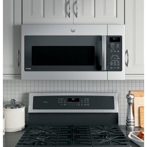 GE Profile™ 2.1 Cu. Ft. Over-the-Range Sensor Microwave Oven
