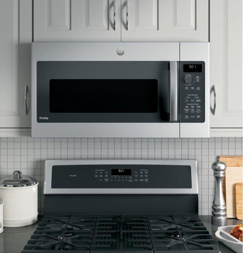GE Profile™ 2 1 Cu  Ft  Over-the-Range Sensor Microwave Oven