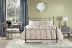 Molly Queen Bed Set - Black Steel