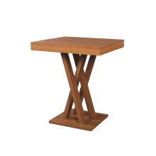 Contemporary Light Walnut Bar Table
