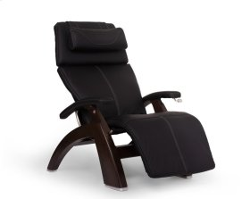 Perfect Chair PC-420 Classic Manual Plus - Black Top-Grain Leather - Dark Walnut