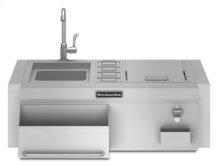 "30"" Width Stainless Steel Ingredient Center Cutting Board"