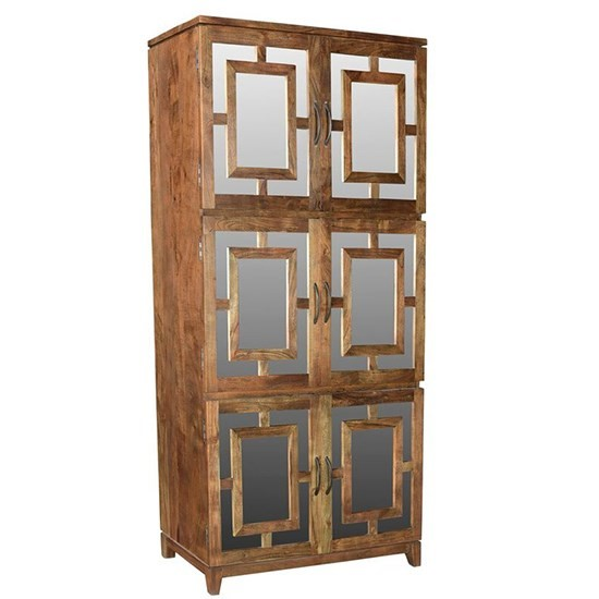 Bengal Manor Acacia Wood 6 Door Mirrored Tall Cabinet  sc 1 st  The Cleveland Furniture Company & CVFNR463 in by Crestview Collections in Cleveland OH - Bengal Manor ...