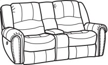 New Town Fabric Power Reclining Loveseat with Console