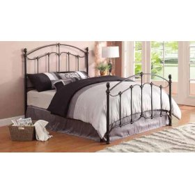 Queen Bed with Rails