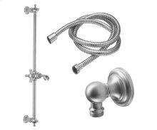 Slide Bar Handshower Kit - Cross Handle With Concave Base