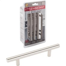 """10-Pack of 154mm (6-1/16"""") Overall Length 7/16"""" Diameter Hollow Stainless Steel Cabinet Pulls with Beveled Ends. Holes are 96 mm center-to-center."""