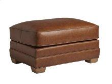 Benton Leather Ottoman
