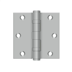 """3 1/2""""x 3 1/2"""" Square Hinge - Brushed Stainless"""