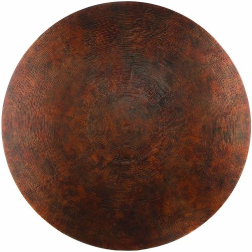 Sanctuary 60 in Round Pedestal Dining Table - Ebony & Copper