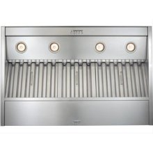"52-3/8"" Stainless Steel Built-In Range Hood with Internal Super Pro 1200 CFM Blower"
