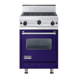 """Cobalt Blue 24"""" Char-Grill Companion Range - VGIC (24"""" wide range with char-grill, single oven)"""
