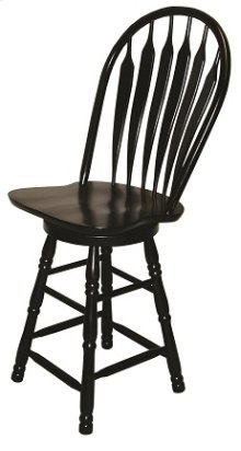"Sunset Trading 30"" Comfort Barstool in Antique Black"