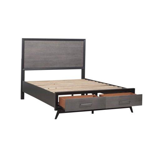 Eastern King Platform Bed with Footboard Storage