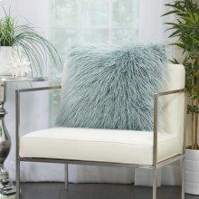 "Faux Fur Bj101 Celadon 20"" X 20"" Throw Pillows"