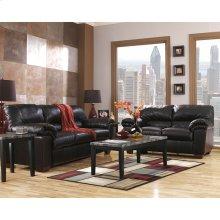 Signature Design by Ashley Commando Living Room Set in Black Leather [FSD-2129SET-BLK-GG]