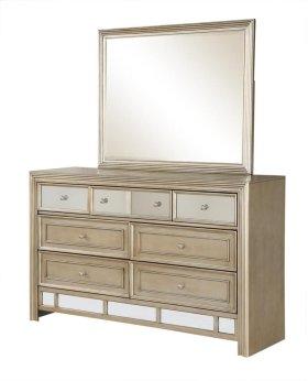 Champagne Dresser & Mirror
