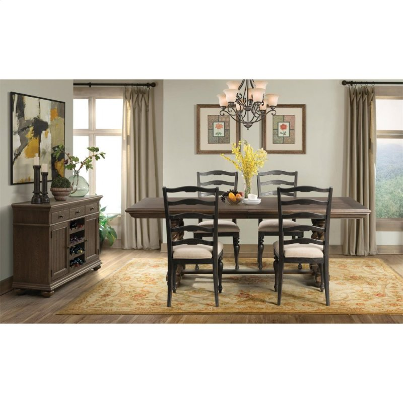 In By Riverside In Orange CA Cassidy Trestle Dining Table - Aged wood dining table