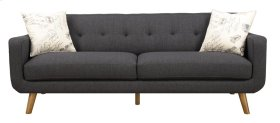 Sofa Charcoal W/2 Accent Pillows