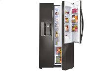 LG Black Stainless Steel Series 22 cu. ft. Side-By-Side Counter-Depth Refrigerator w/Door-in-Door®