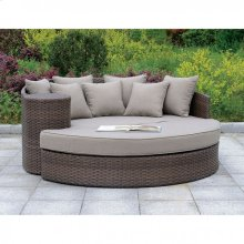 Calio Round Patio Sofa & Ottoman