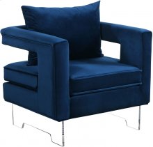 """Carson Velvet Accent Chair - 32.5""""L x 30""""D x 29""""H"""
