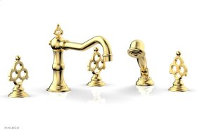 MAISON Deck Tub Set with Hand Shower 164-48 - Satin Gold