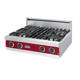"""Apple Red 30"""" Sealed Burner Rangetop - VGRT (30"""" Wide, four burner)"""