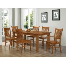 Marbrisa Mission Oak Seven-piece Dining Set