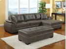 Emerald Home Manhattan 3-pcsectional W/ottoman2-pillows Grey U2023a-09-3pcset-k Product Image