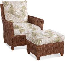 Lanai Breeze Chair and Ottoman