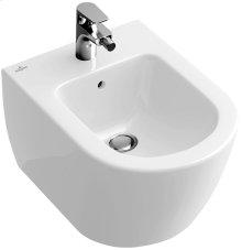 Wall-mounted bidet (over-the-rim style) - sleek - White Alpin