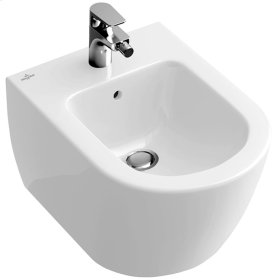 Wall-mounted bidet (over-the-rim style) - sleek - White Alpin CeramicPlus