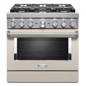 KitchenAid® 36'' Smart Commercial-Style Dual Fuel Range with 6 Burners - Milkshake