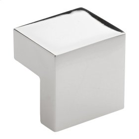 Small Square Knob 5/8 Inch (c-c) - Polished Nickel