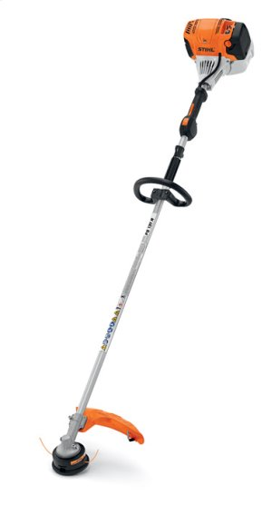 Stihl FS131-R features a low exhaust emission engine and a larger fuel tank that delivers 30% longer run times