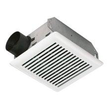 50 CFM Bath Ventilation Fan with White Grille