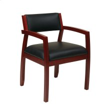 Napa Cherry Guest Chair With Upholstered Back