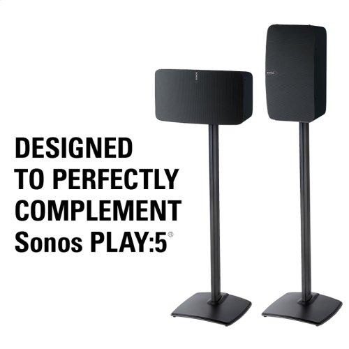 Black Wireless Speaker Stands designed for Sonos Play:5