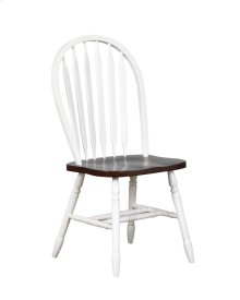 """Sunset Trading 38"""" Arrowback Dining Chair in Antique White with Chestnut Seat"""